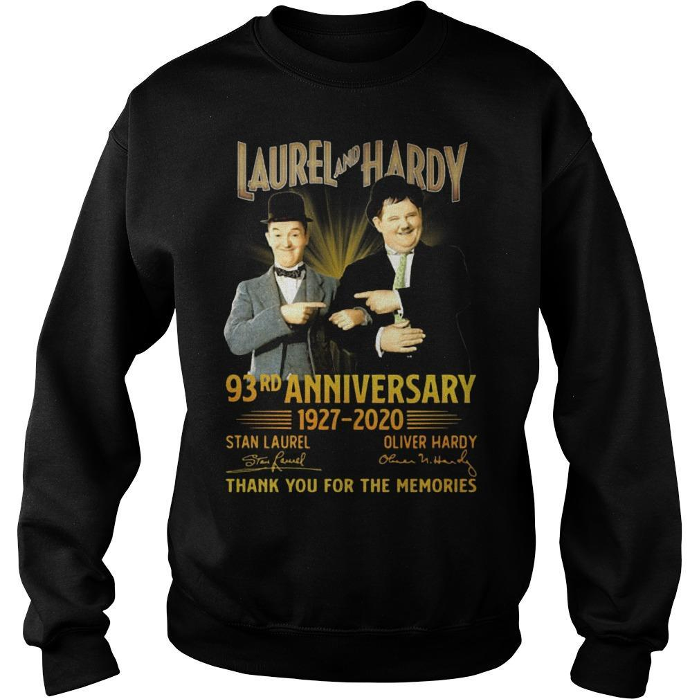 Laurel And Hardy 93rd Anniversary 1927 2020 Thank You For The Memories Sweater