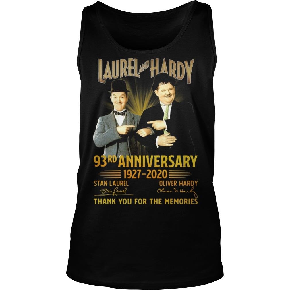 Laurel And Hardy 93rd Anniversary 1927 2020 Thank You For The Memories Tank Top