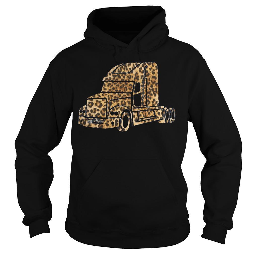 Leopard Print Truck Hoodie
