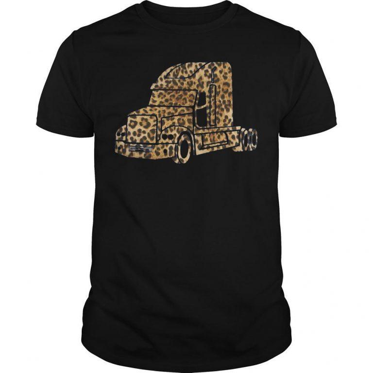 Leopard Print Truck Shirt