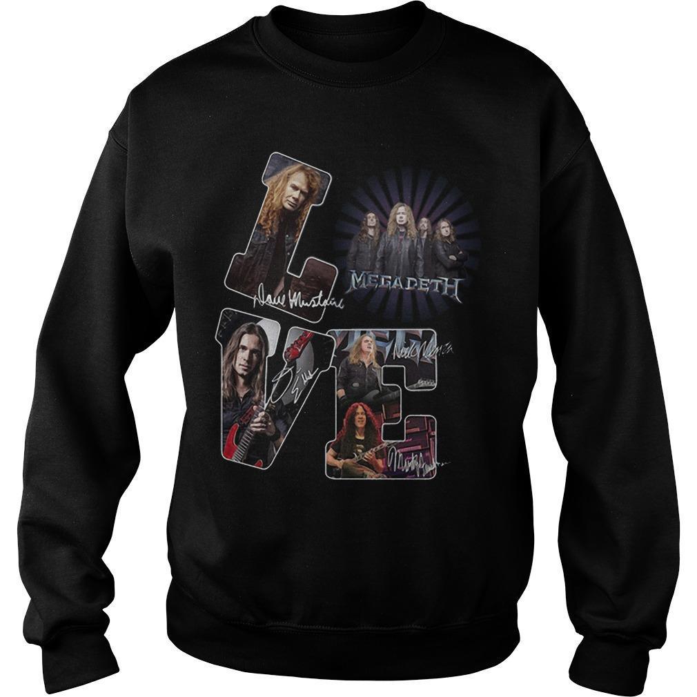 Love Megadeth Signatures Sweater