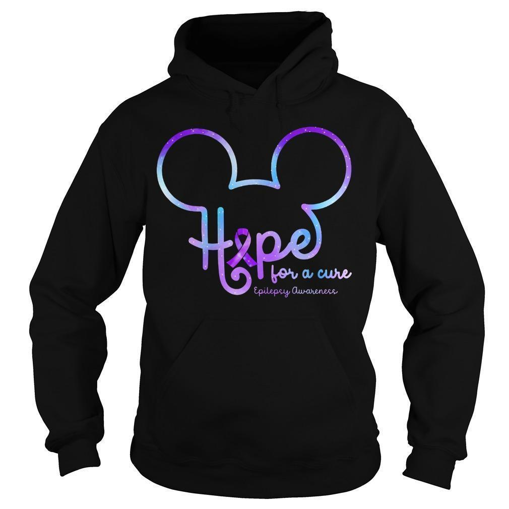 Mickey Hope For A Cure Epilepsy Awareness Hoodie