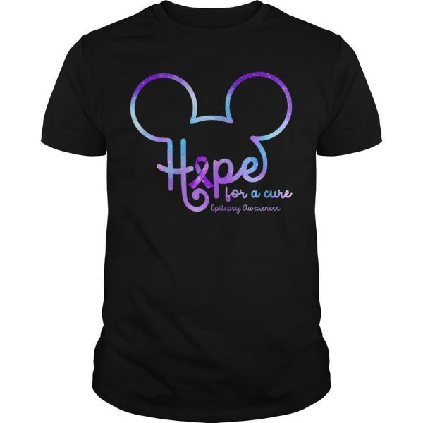 Mickey Hope For A Cure Epilepsy Awareness Shirt
