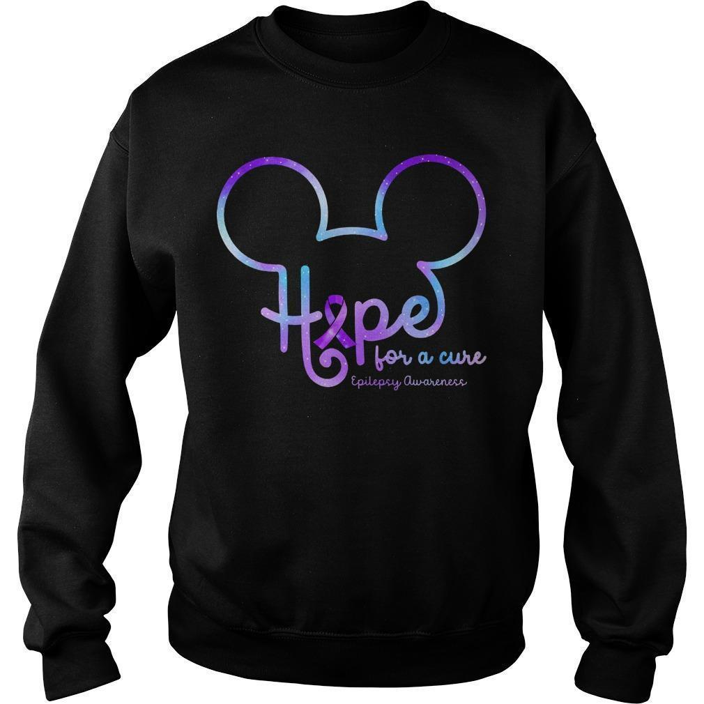 Mickey Hope For A Cure Epilepsy Awareness Sweater