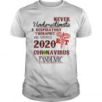 Never Underestimate A Respiratory Therapist Who Survived 2020 Coronavirus Pandemic Shirt