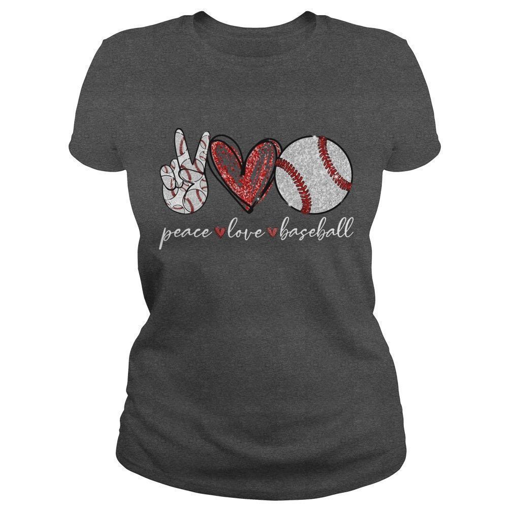 Peace Love Baseball Longsleeve