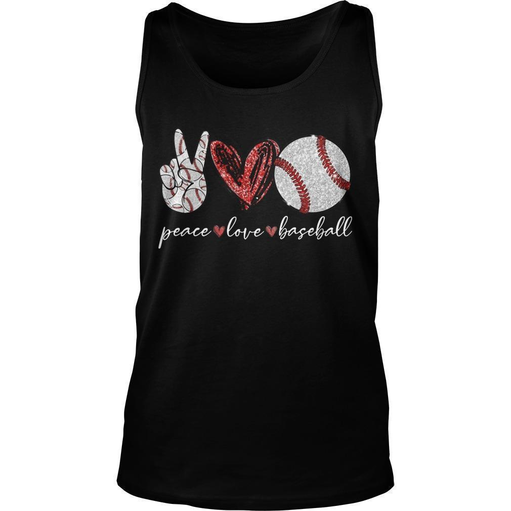 Peace Love Baseball Tank Top