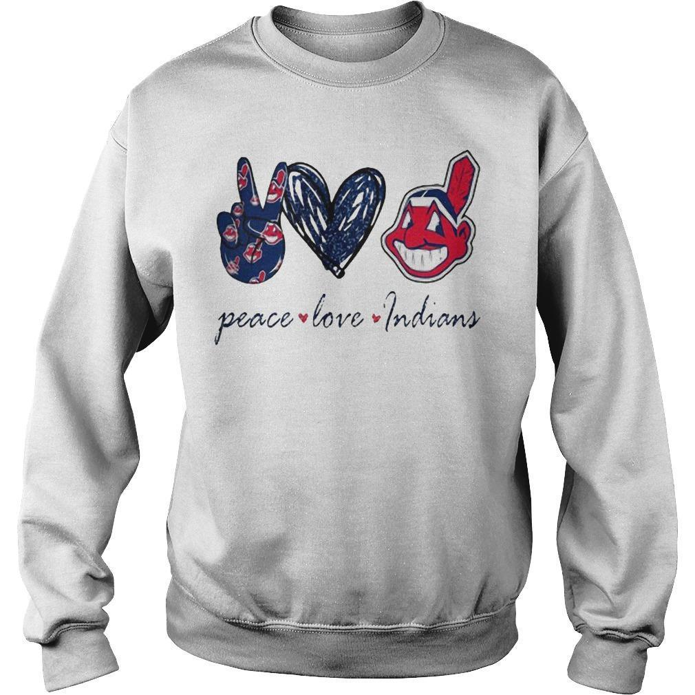 Peace Love Cleveland Indians T Sweater