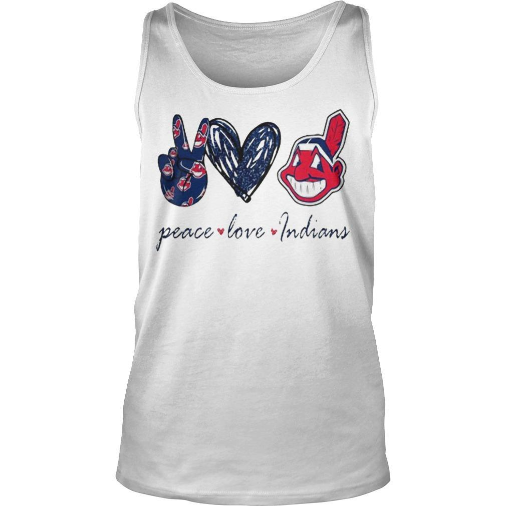 Peace Love Cleveland Indians T Tank Top