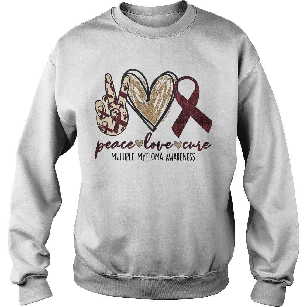 Peace Love Cure Multiple Myeloma Awareness Sweater