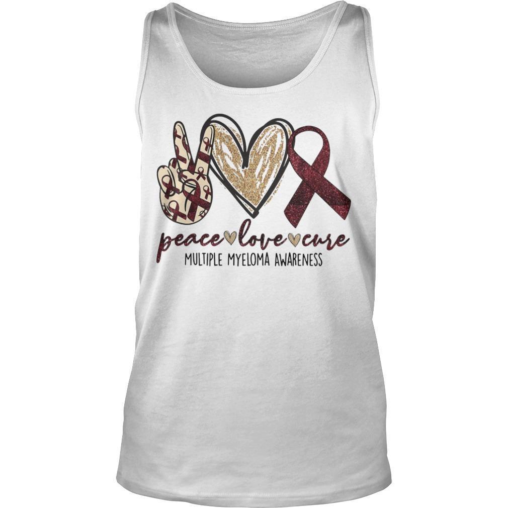 Peace Love Cure Multiple Myeloma Awareness Tank Top
