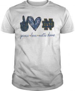 Peace Love Notre Dame Shirt