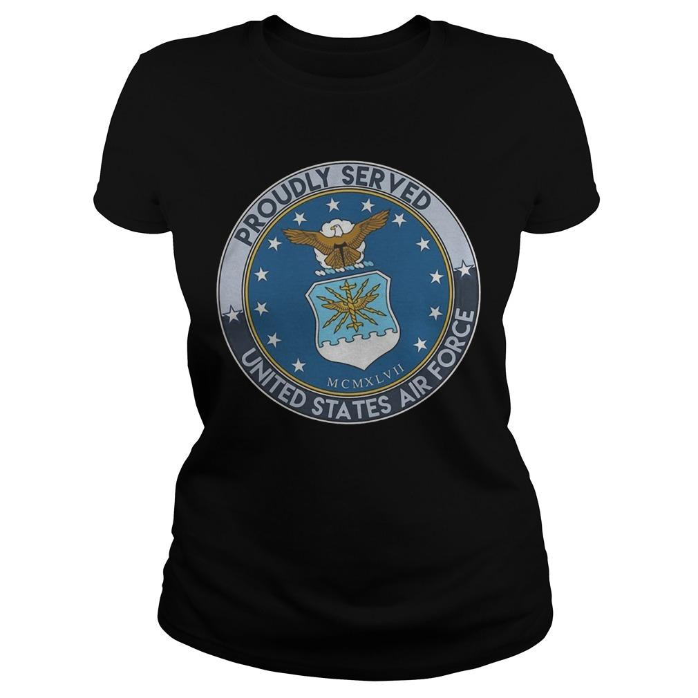 Proudly Served United States Air Force Longsleeve