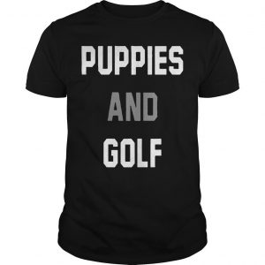 Puppies And Golf T Shirt