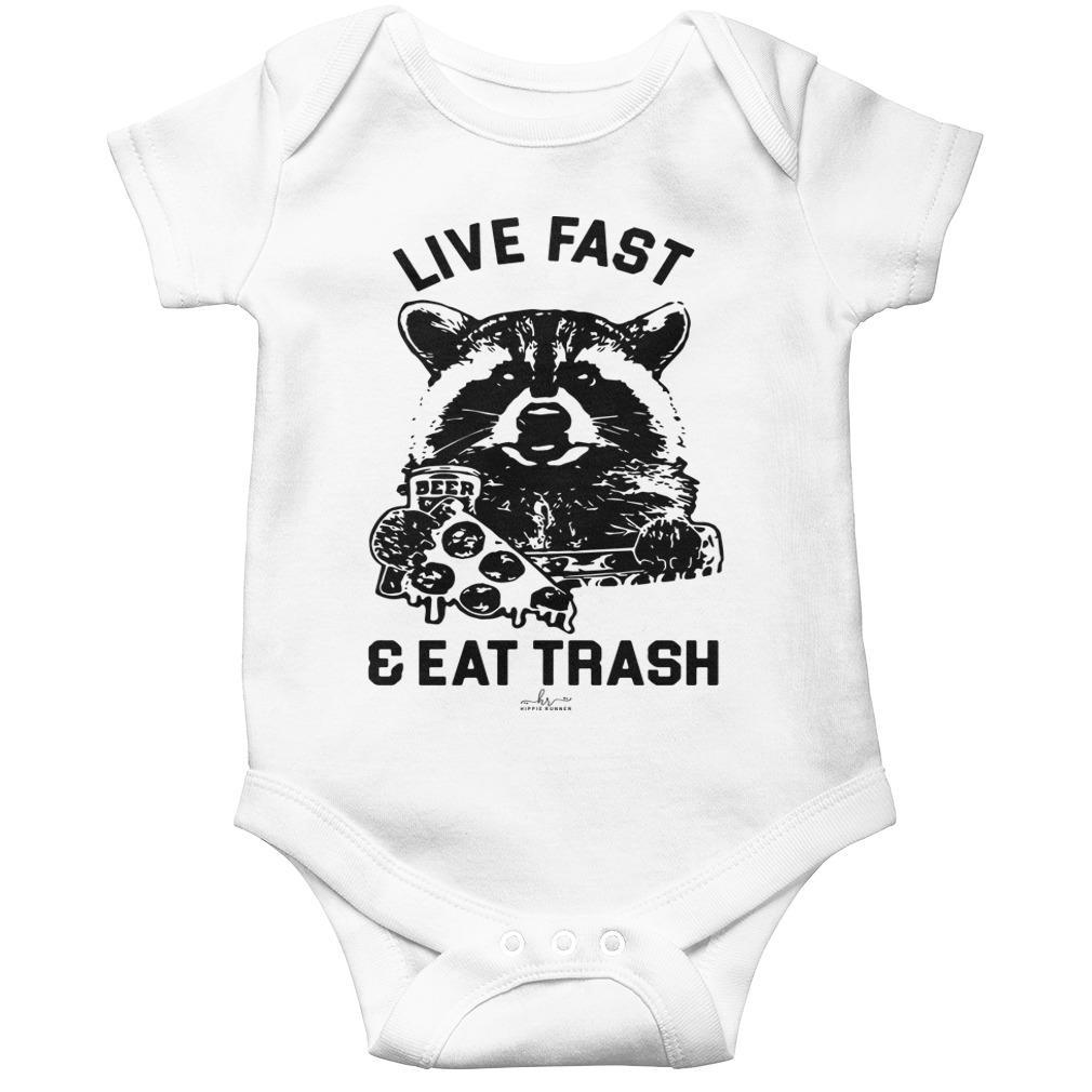 Raccoon Live Fast And Eat Trash Longsleeve