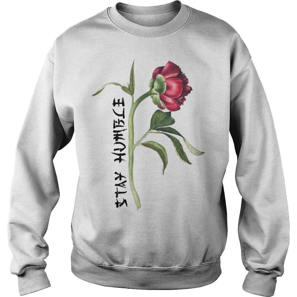Single Peony Stay Humble Sweater