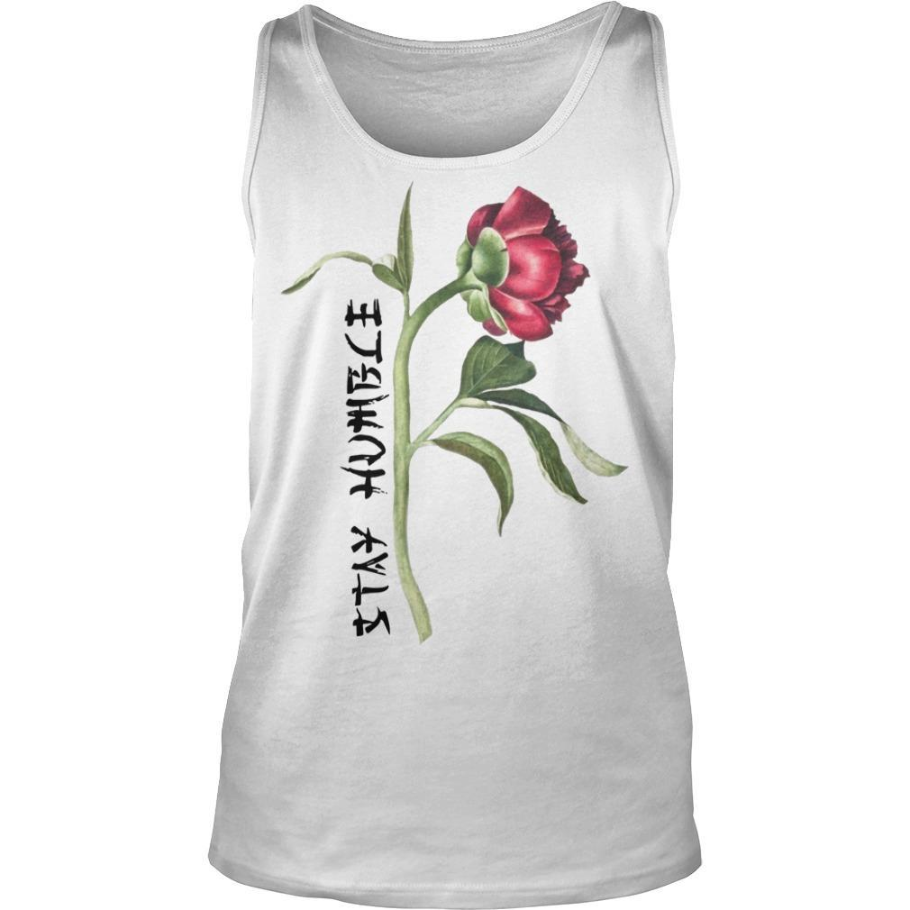 Single Peony Stay Humble Tank Top