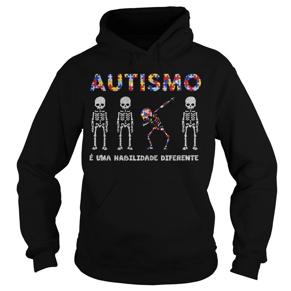 Skellington Dabbing Autismo É Uma Habilidade Diferente Hoodie