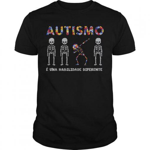 Skellington Dabbing Autismo É Uma Habilidade Diferente Shirt