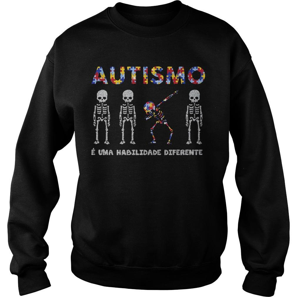 Skellington Dabbing Autismo É Uma Habilidade Diferente Sweater