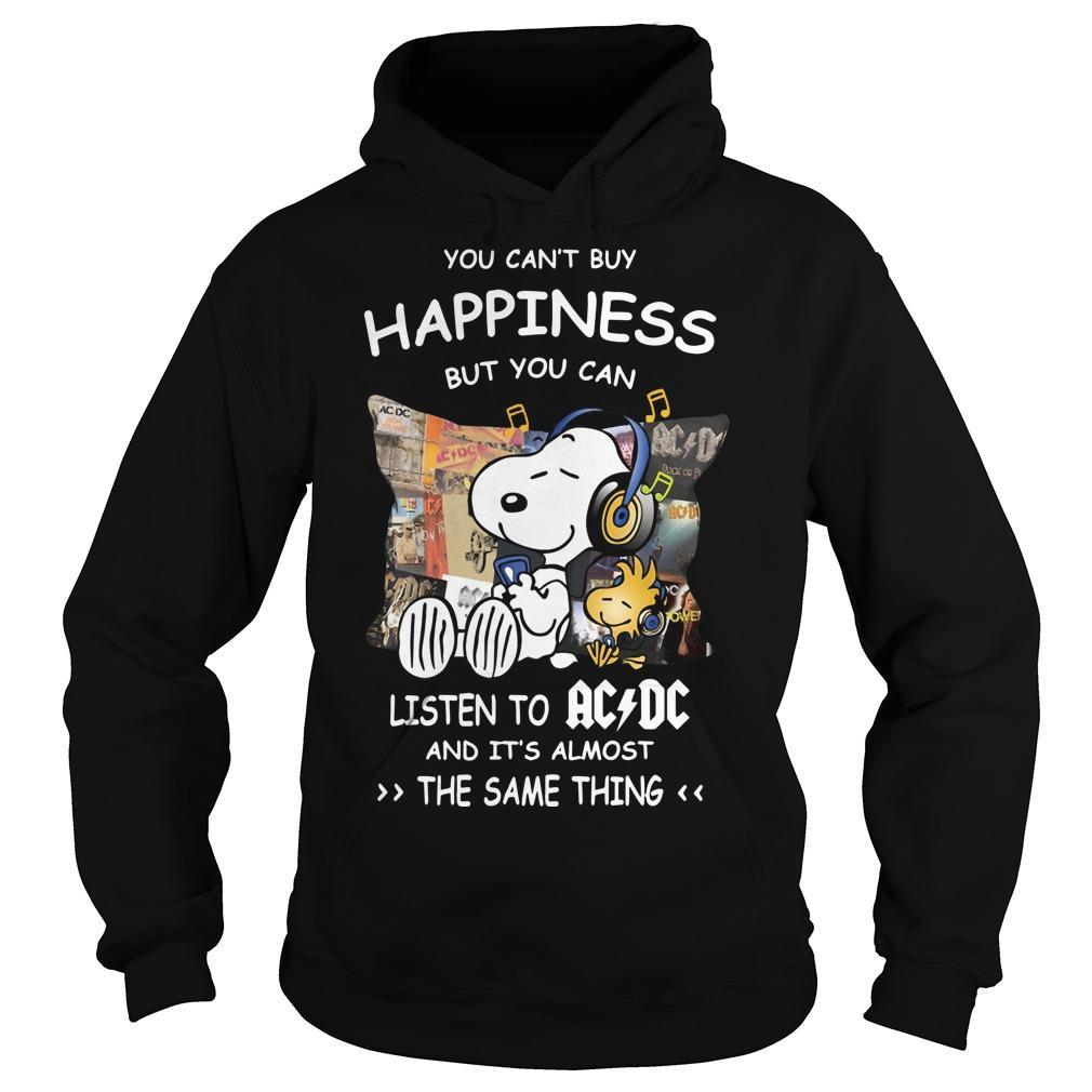 Snoopy You Can't Buy Happiness But You Can Listen To ACDC Hoodie