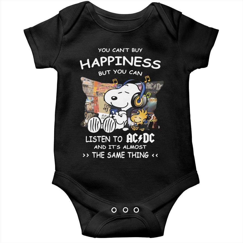 Snoopy You Can't Buy Happiness But You Can Listen To ACDC Longsleeve