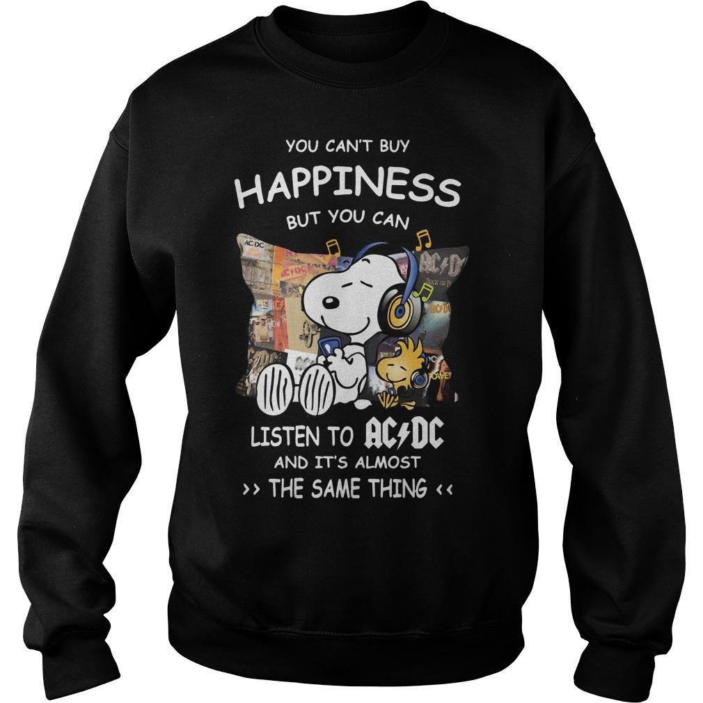 Snoopy You Can't Buy Happiness But You Can Listen To ACDC Sweater