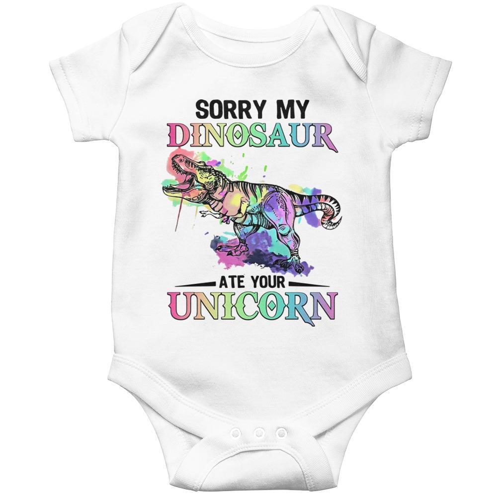 Sorry My Dinosaur Ate Your Unicorn Longsleeve