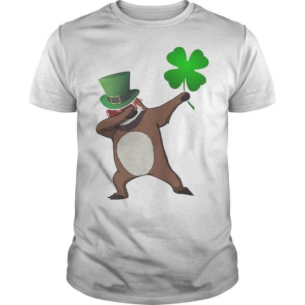 St Patrick's Day Shamrock Sloth Dabbing Shirt