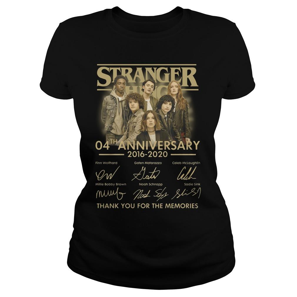 Stranger Thing 04th Anniversary 2016 2020 Thank You For The Memories Longsleeve