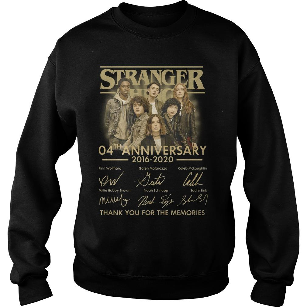Stranger Thing 04th Anniversary 2016 2020 Thank You For The Memories Sweater