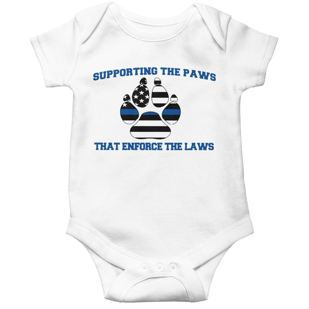 Supporting The Paws That Enforce The Laws Longsleeve