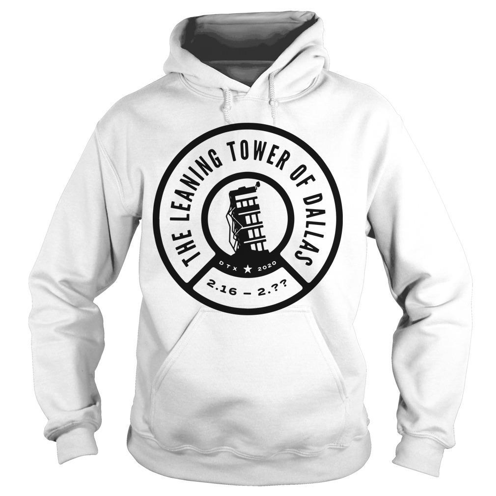 The Leaning Tower Of Dallas Remember The Tower Hoodie
