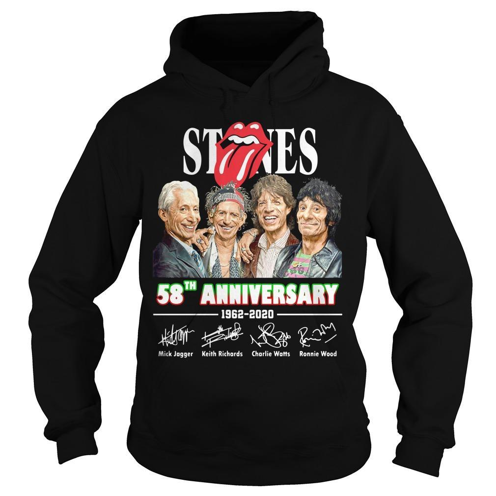 The Rolling Stones 58th Anniversary 1962 2020 Signatures Hoodie