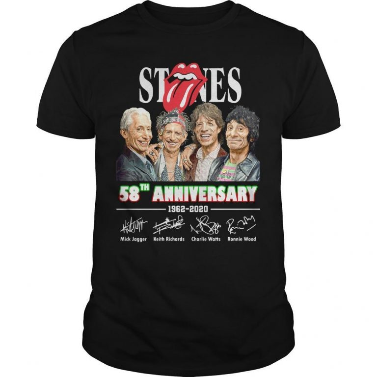 The Rolling Stones 58th Anniversary 1962 2020 Signatures Shirt