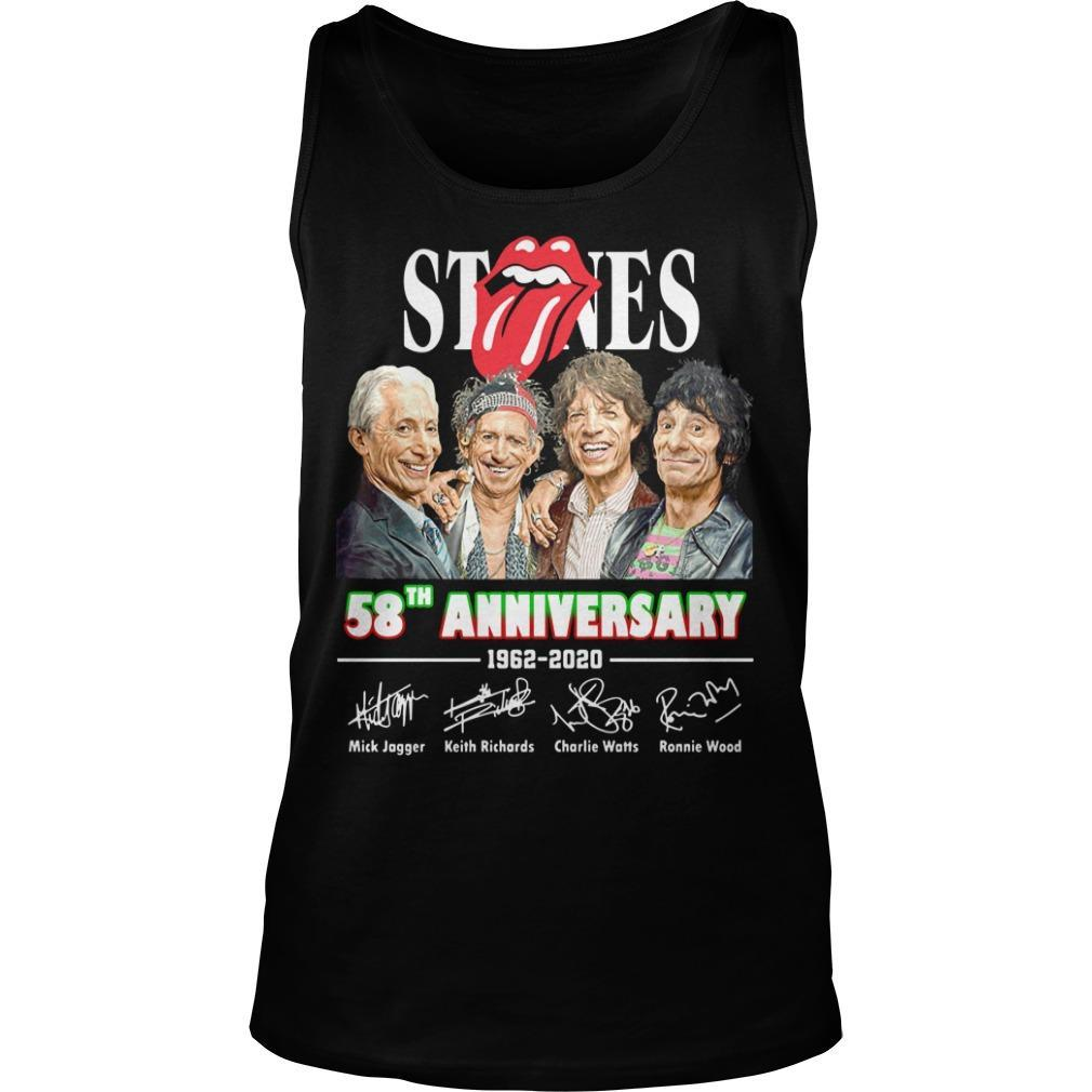 The Rolling Stones 58th Anniversary 1962 2020 Signatures Tank Top