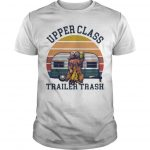 Vintage Bear Drinking Beer Upper Class Trailer Trash Shirt