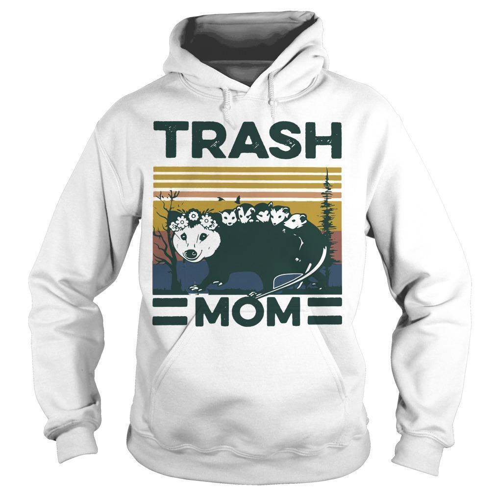 Vintage Rat Trash Mom Hoodie