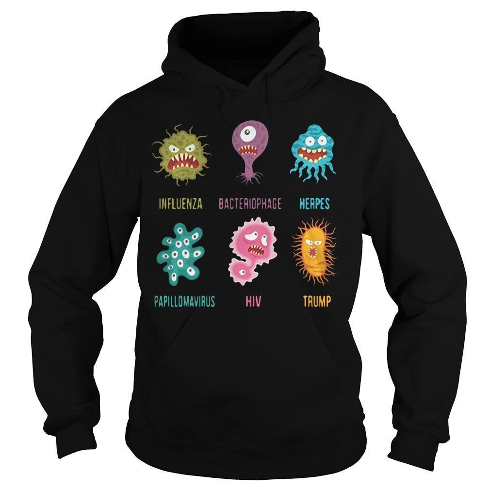 Virus Influenza Bacteriophage Herpes Papillomavirus Hiv Trump Hoodie
