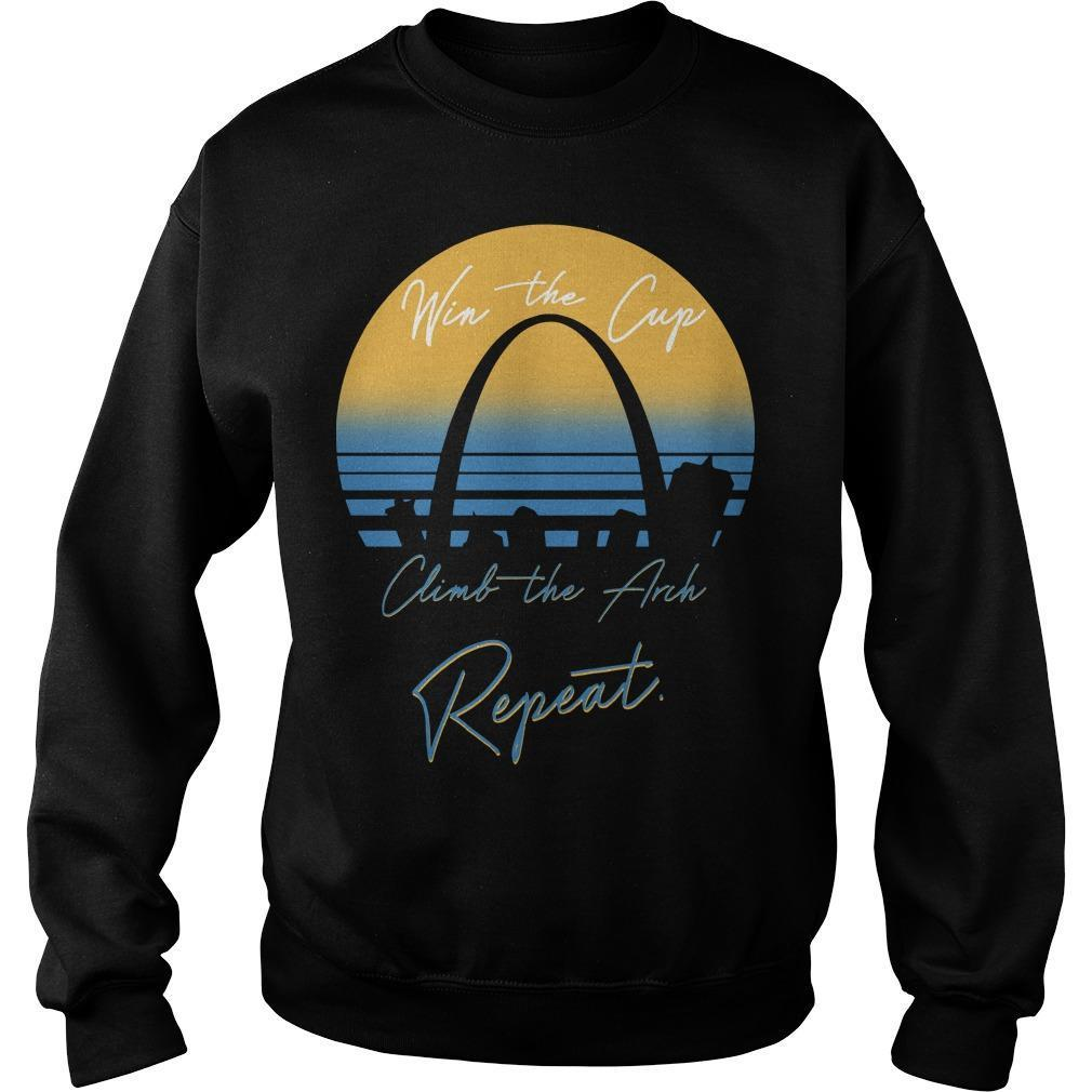 Win The Cup Climb The Arch Repeat Sweater