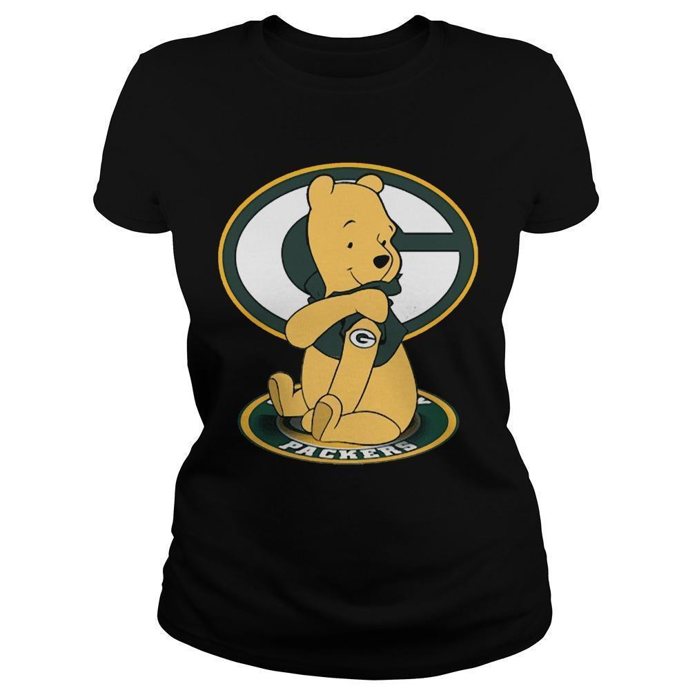 Winnie The Pooh Green Bay Packers Longsleeve