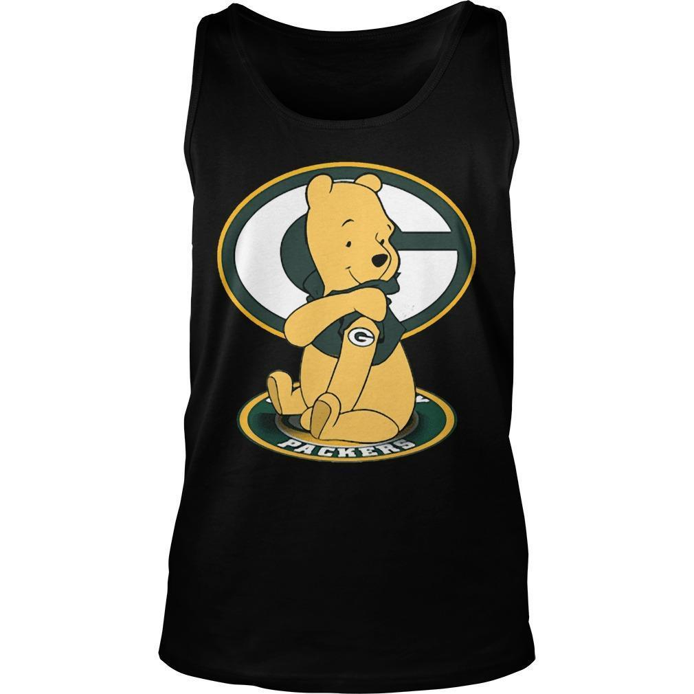 Winnie The Pooh Green Bay Packers Tank Top