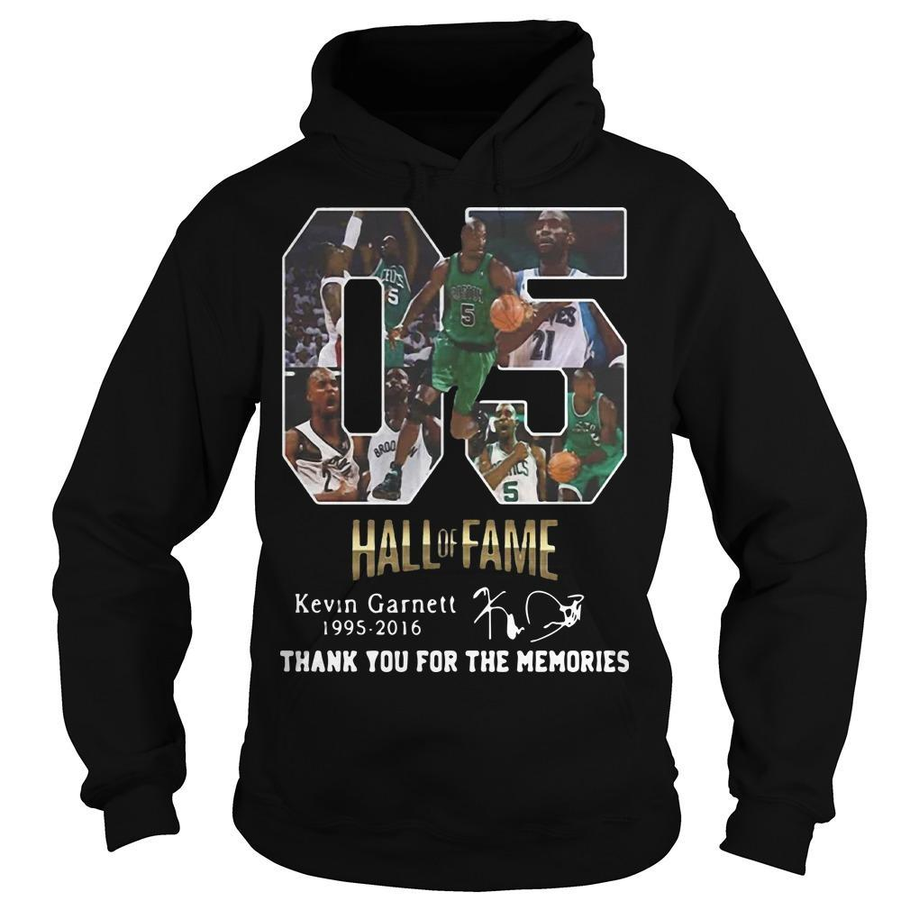 05 Hall Of Fame Kevin Garnett 1995 2016 Signature Hoodie