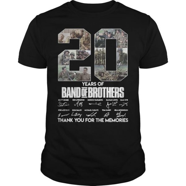 20 Years Of Band Of Brothers Thank You For The Memories Signature Shirt