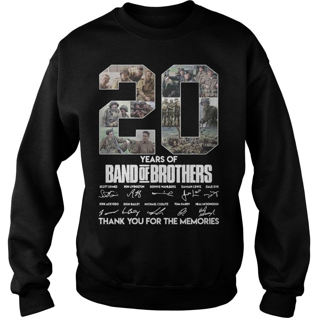 20 Years Of Band Of Brothers Thank You For The Memories Signature Sweater