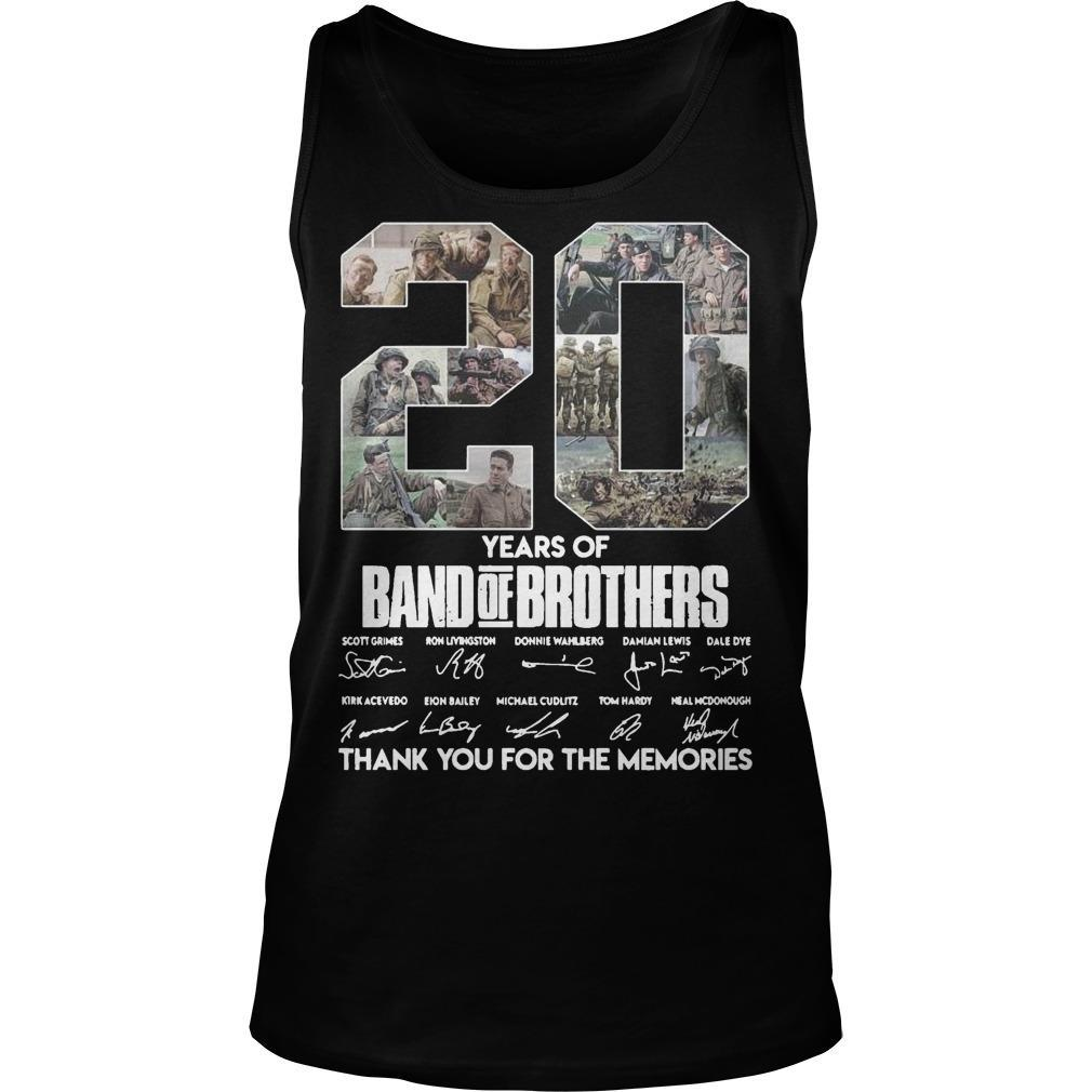 20 Years Of Band Of Brothers Thank You For The Memories Signature Tank Top