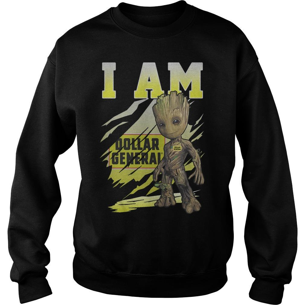 Baby Groot I Am Dollar General Sweater