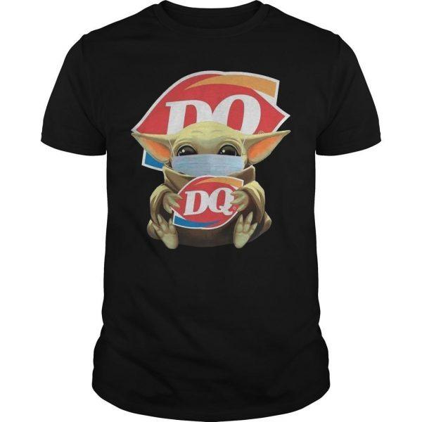 Baby Yoda Mask Hugging Dairy Queen Shirt