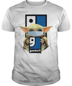 Baby Yoda Wearing Mask Goodwill Shirt