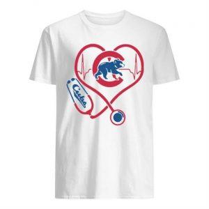 Baseball Stethoscope Heartbeat Chicago Cubs Shirt